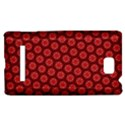 Red Passion Floral Pattern HTC 8S Hardshell Case View1