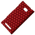 Red Passion Floral Pattern HTC 8X View4