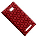 Red Passion Floral Pattern HTC 8X View5