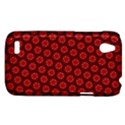 Red Passion Floral Pattern HTC Desire V (T328W) Hardshell Case View1