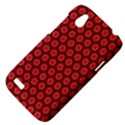 Red Passion Floral Pattern HTC Desire V (T328W) Hardshell Case View4