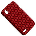 Red Passion Floral Pattern HTC Desire V (T328W) Hardshell Case View5