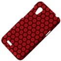 Red Passion Floral Pattern HTC Desire VT (T328T) Hardshell Case View4