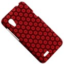 Red Passion Floral Pattern HTC Desire VT (T328T) Hardshell Case View5