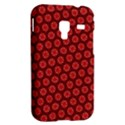 Red Passion Floral Pattern Samsung Galaxy Ace Plus S7500 Hardshell Case View2