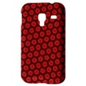 Red Passion Floral Pattern Samsung Galaxy Ace Plus S7500 Hardshell Case View3
