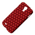 Red Passion Floral Pattern Samsung Galaxy S4 I9500/I9505 Hardshell Case View4