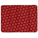 Red Passion Floral Pattern Samsung Galaxy Tab 7  P1000 Flip Case View1