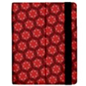 Red Passion Floral Pattern Samsung Galaxy Tab 7  P1000 Flip Case View2