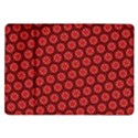Red Passion Floral Pattern Samsung Galaxy Tab 10.1  P7500 Flip Case View1