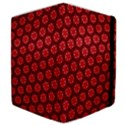 Red Passion Floral Pattern Samsung Galaxy Tab 10.1  P7500 Flip Case View4