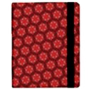 Red Passion Floral Pattern Samsung Galaxy Tab 8.9  P7300 Flip Case View2