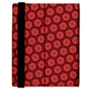 Red Passion Floral Pattern Samsung Galaxy Tab 8.9  P7300 Flip Case View3