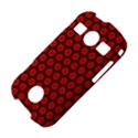 Red Passion Floral Pattern Samsung Galaxy S7710 Xcover 2 Hardshell Case View4