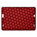 Red Passion Floral Pattern Amazon Kindle Fire HD (2013) Hardshell Case View1