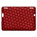 Red Passion Floral Pattern Kindle Fire HDX Hardshell Case View1