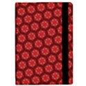 Red Passion Floral Pattern iPad Mini 2 Flip Cases View2