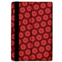 Red Passion Floral Pattern iPad Mini 2 Flip Cases View4