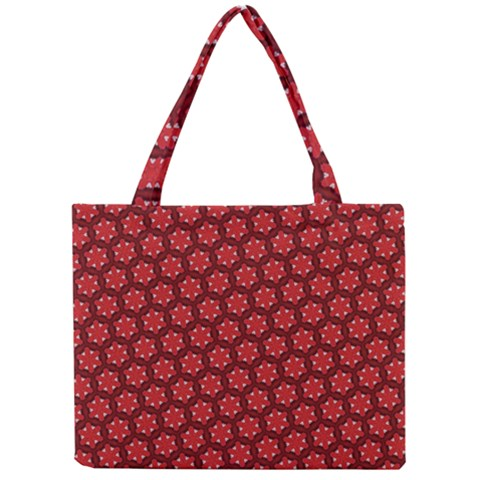Red Passion Floral Pattern Mini Tote Bag