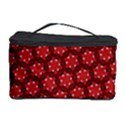 Red Passion Floral Pattern Cosmetic Storage Case View1