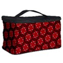 Red Passion Floral Pattern Cosmetic Storage Case View2