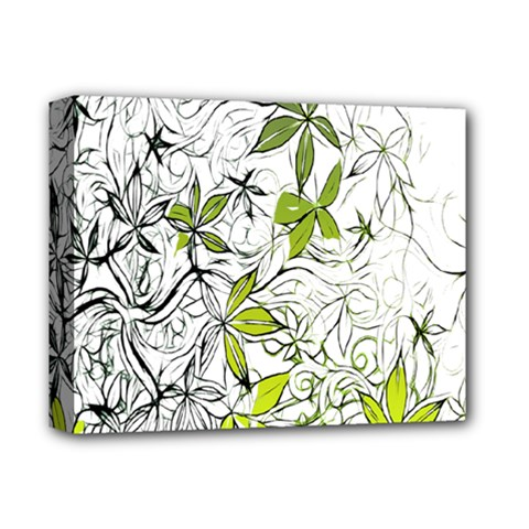 Floral Pattern Background  Deluxe Canvas 14  x 11