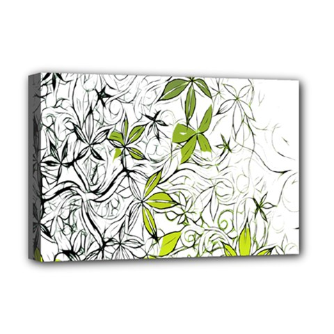 Floral Pattern Background  Deluxe Canvas 18  x 12