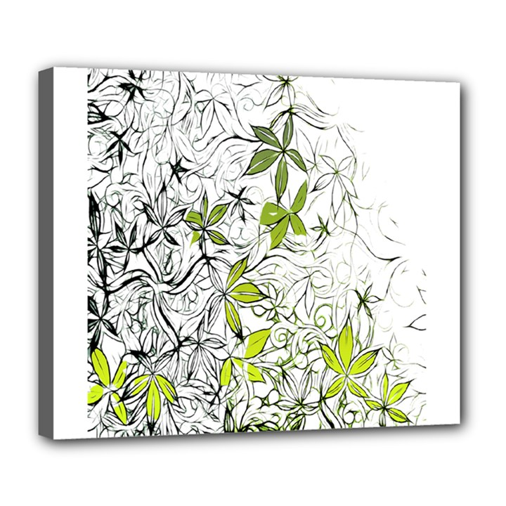 Floral Pattern Background  Deluxe Canvas 24  x 20