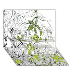 Floral Pattern Background  YOU ARE INVITED 3D Greeting Card (7x5)