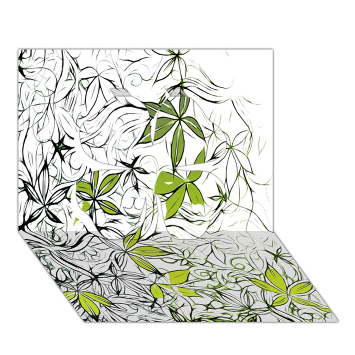 Floral Pattern Background  Clover 3D Greeting Card (7x5)