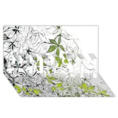 Floral Pattern Background  #1 MOM 3D Greeting Cards (8x4)