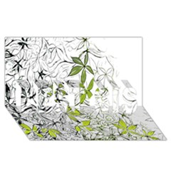 Floral Pattern Background  BEST SIS 3D Greeting Card (8x4)