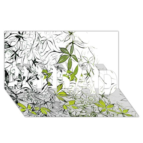 Floral Pattern Background  #1 DAD 3D Greeting Card (8x4)