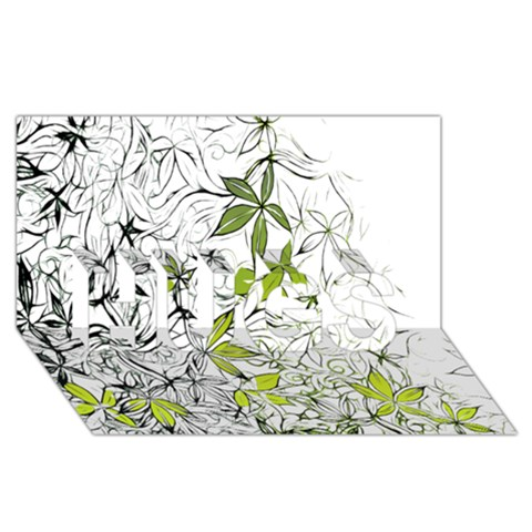 Floral Pattern Background  HUGS 3D Greeting Card (8x4)