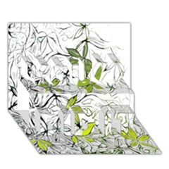 Floral Pattern Background  You Did It 3D Greeting Card (7x5)