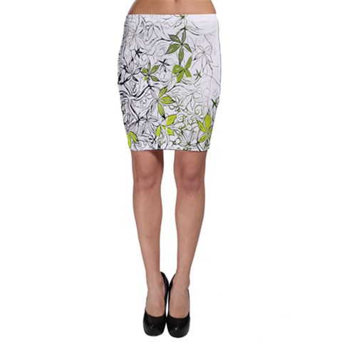 Floral Pattern Background  Bodycon Skirt