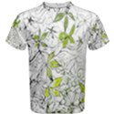 Floral Pattern Background  Men s Cotton Tee View1