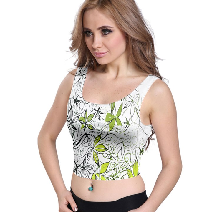 Floral Pattern Background  Crop Top
