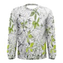 Floral Pattern Background  Men s Long Sleeve Tee View1