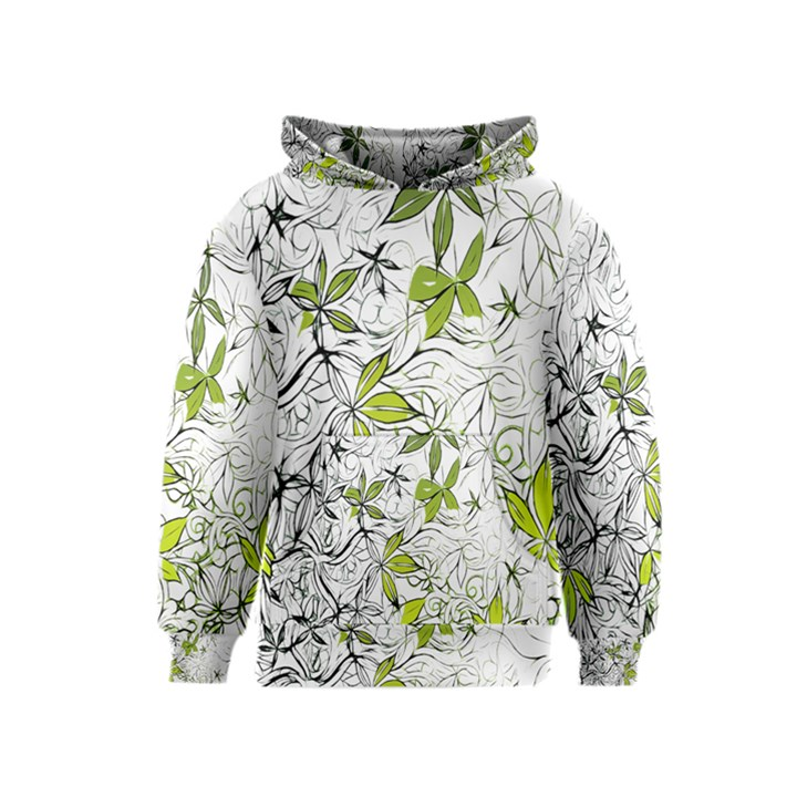 Floral Pattern Background  Kids  Pullover Hoodie