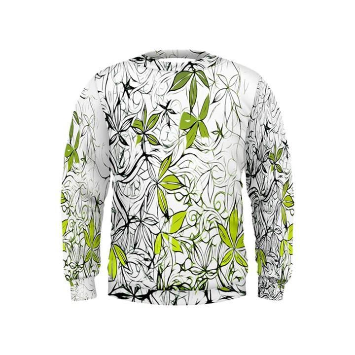 Floral Pattern Background  Kids  Sweatshirt