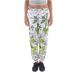 Floral Pattern Background  Women s Jogger Sweatpants