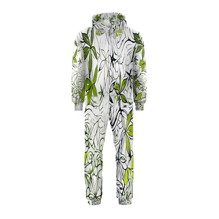 Floral Pattern Background  Hooded Jumpsuit (Kids)