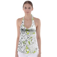 Floral Pattern Background  Babydoll Tankini Top