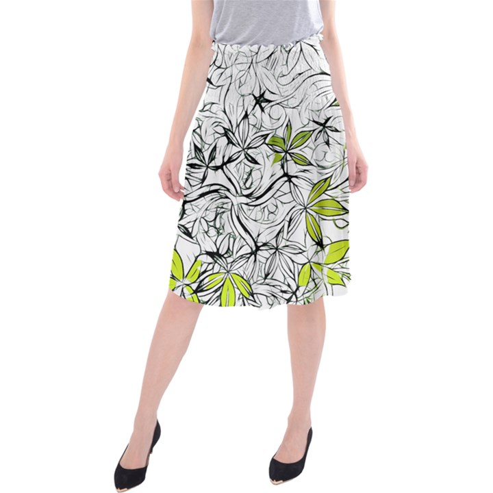 Floral Pattern Background  Midi Beach Skirt