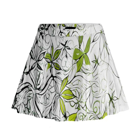 Floral Pattern Background  Mini Flare Skirt