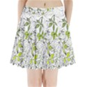 Floral Pattern Background  Pleated Mini Skirt View1