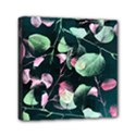 Modern Green And Pink Leaves Mini Canvas 6  x 6  View1