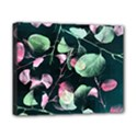 Modern Green And Pink Leaves Canvas 10  x 8  View1