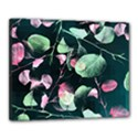 Modern Green And Pink Leaves Canvas 20  x 16  View1